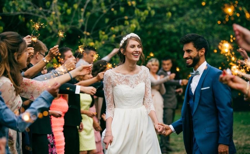 feu de bengale mariage