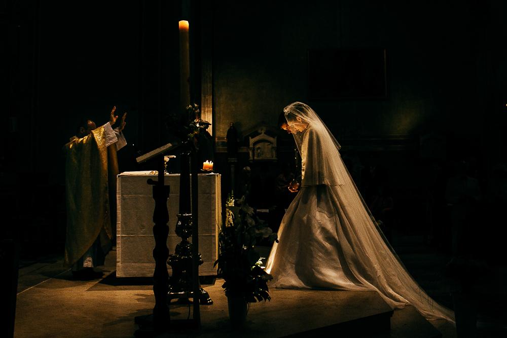 photo extraite d'un reportage de mariage religieux à Nîmes