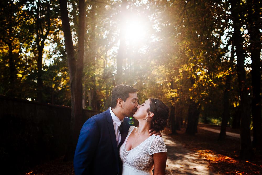 photos de mariés dans la nature