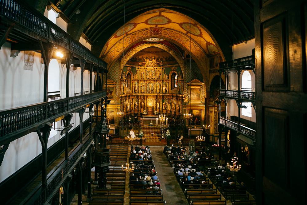photo de la très belle église de St Jean de Luz en centre ville