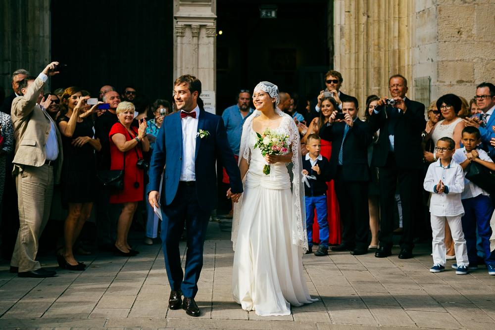 sortie d'Eglise des mariés à St Jean de Luz